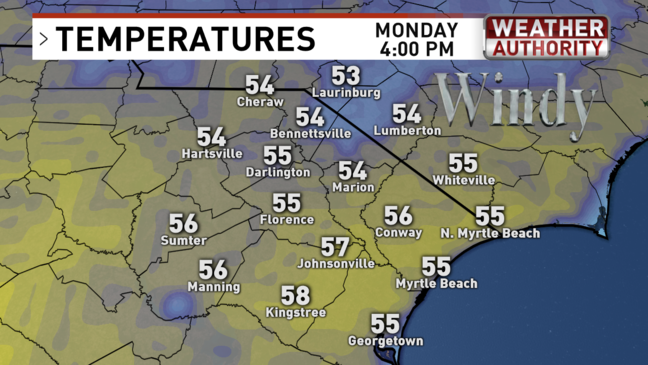 April begins with cold, wet conditions | WPDE