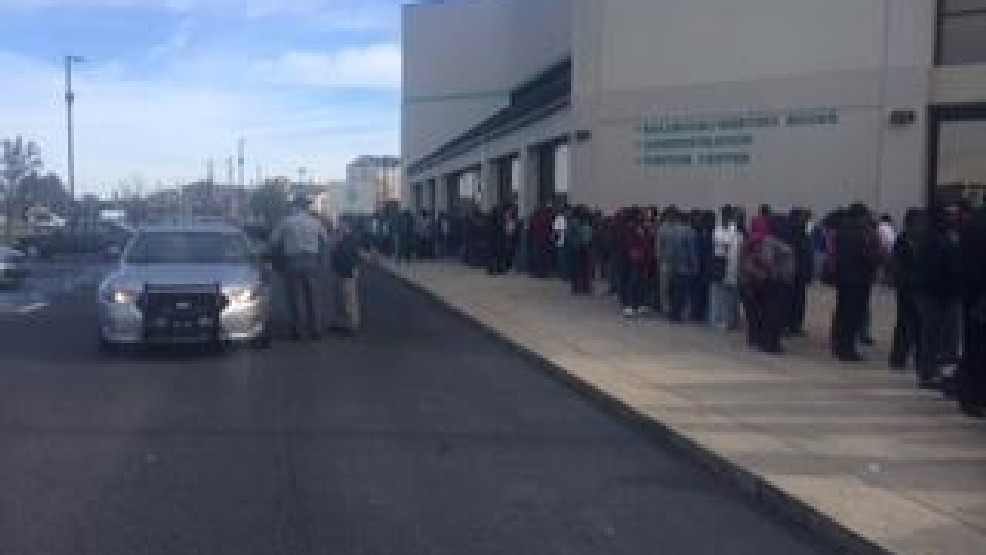 ... line outside the Florence Civic Center for DSNAP benefits on Nov. 16