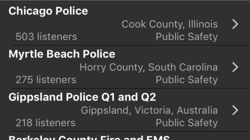 Police scanner app shows Myrtle Beach in top 5 for listeners