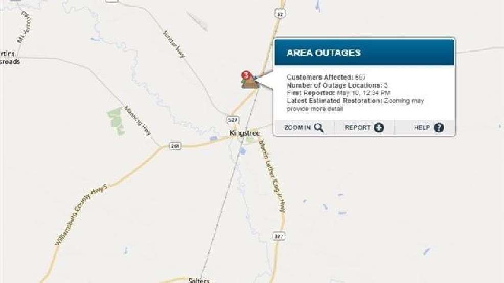 Power outages reported Sunday | WPDE