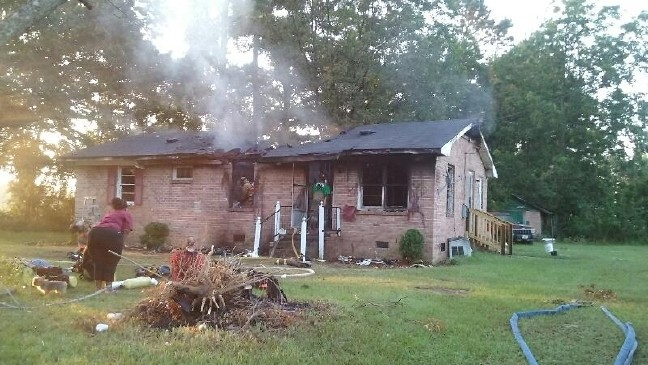 Mullins Home Badly Damaged By Fire Wpde